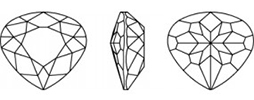 Swarovski 4370 - Heart Pear Fancy Stone Line Drawing