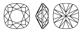 Swarovski 4470 - Cushion Square Fancy Stone Line Drawing