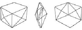 Swarovski 4933 - Tilted Dice Fancy Stone Line Drawing
