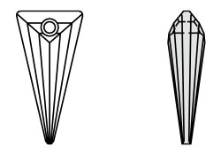 Swarovski Crystal Pendants - 6480 - Spike Pendant Line Drawing