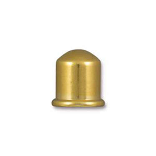 Cupola 8mm ID Brass Cord End - Bright Gold