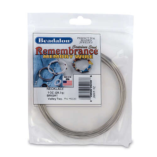 Remembrance Memory Wire - Necklace - 36 coil pack (1 oz / 28.35g) - Bright - JMNT-1Z