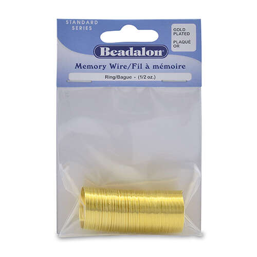 Memory Wire - Ring - 99 coil pack (0.5oz / 14g) - Gold Plated - 347A-010