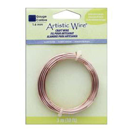 16 Gauge (1.3 mm) - 10 ft (3.1 m) - Silver Plated - Rose Gold Color - AWB-16S-21-10FT