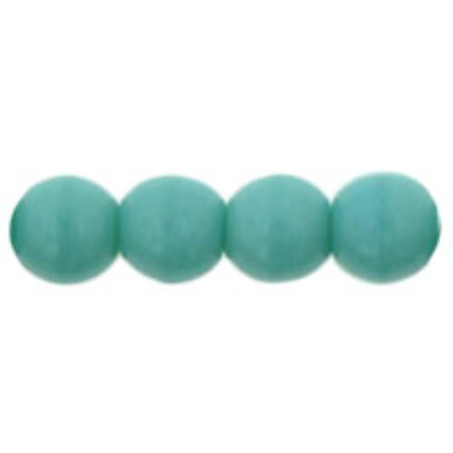 4mm Turquoise - Round Beads - 100 Bead Strand - 5-04-6313