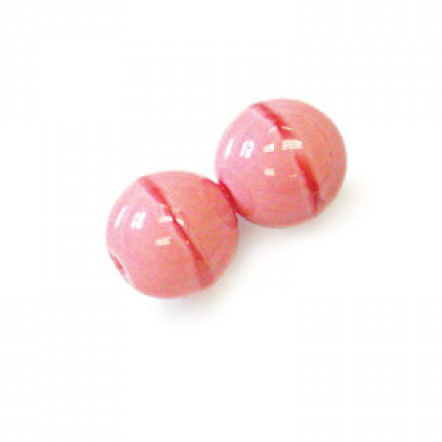 4mm - Coral Pink - Round Beads - 50 Bead Strand - 04-7402-RB