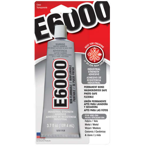E6000 Industrial Strength Adhesive - 3.7 fl oz / 109.4mL Tube - Clear