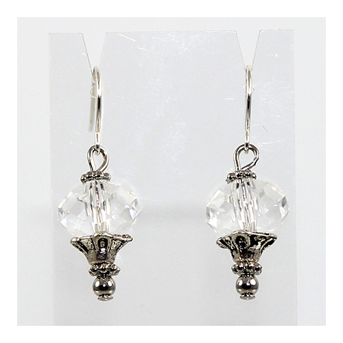 Swarovski Crystal Fancy Briolette Earrings - Crystal
