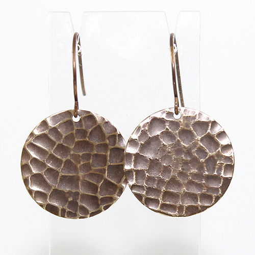Etched Brass Earrings - Crackle