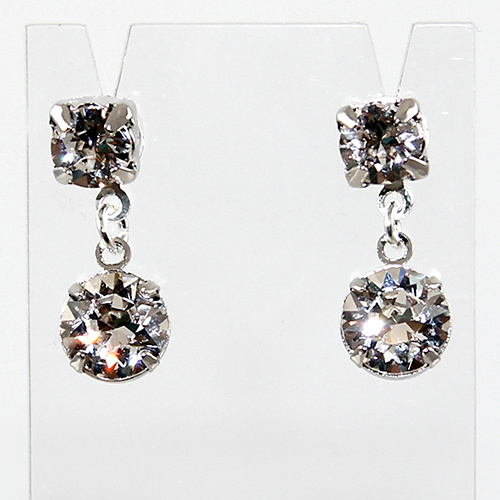 Marilyn - Swarovski Fancy Stone Double Drop Stud Earrings