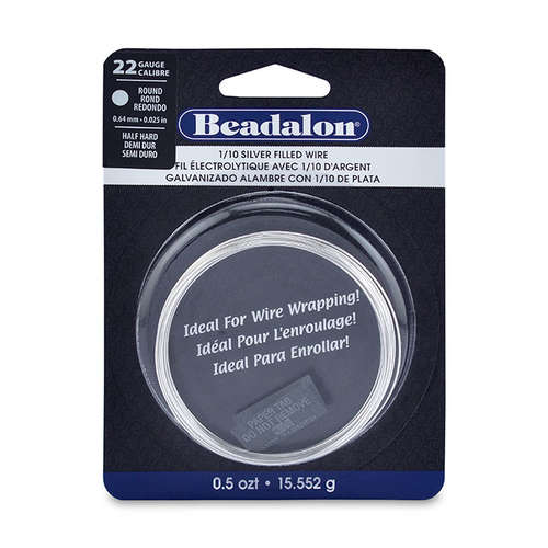 22 Gauge (0.64 mm) Half Hard - Round - 18.5FT (5.64m) - 1/10 Silver Filled - 180SF-022HH