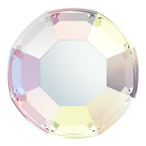 2000 - SS3 (1.35-1.50 mm) - Crystal AB F (001 AB) - Rose No Hot Fix Flat Back Crystal