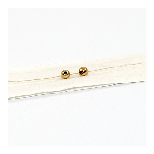2.5mm Metal Ball - Gold