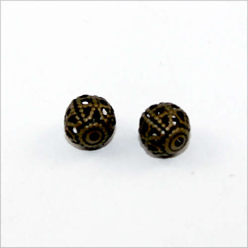 6mm Filigree Ball - Antique Bronze