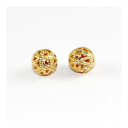 8mm Filigree Ball - Gold