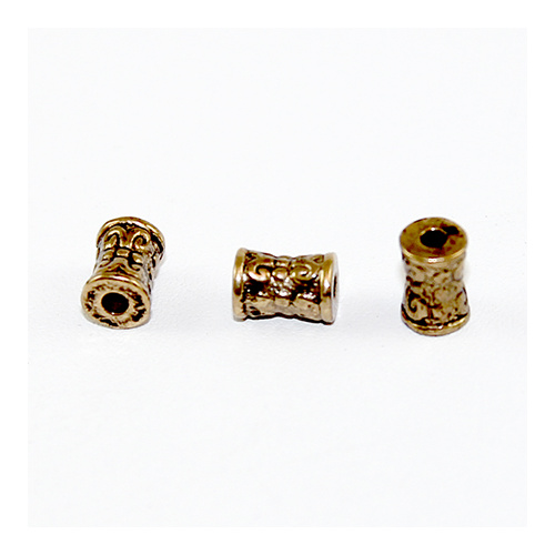 Celtic Tube Spacer Bead - Antique Gold