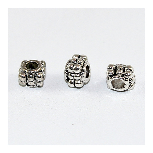 Rope Spacer Bead - Antique Silver