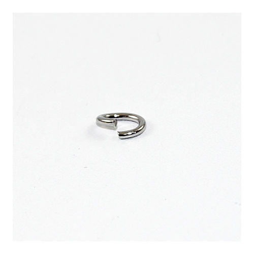 6mm x 8mm Oval Jump Rings - Brass Base - Antique Silver