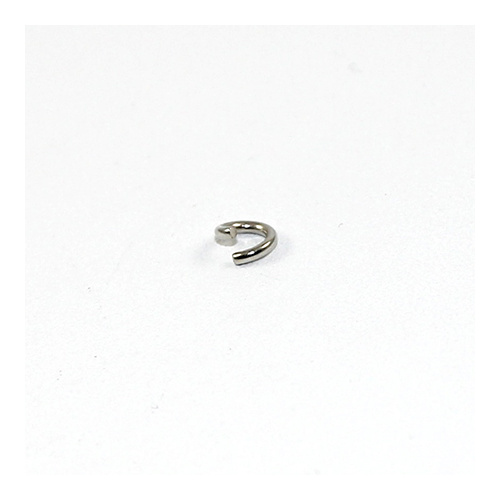 5mm x 1mm Round Jump Rings - Steel Base - Antique Silver