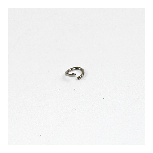 5mm Round Jump Rings - Brass Base - Nickel
