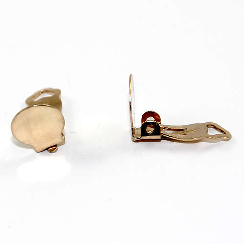 10mm Pad Clip on Earring - Pair - Gold