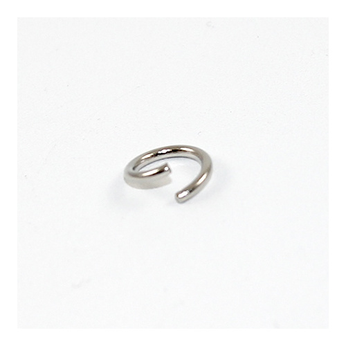 10mm x 1.5mm Round Jump Rings - Steel Base - Nickel