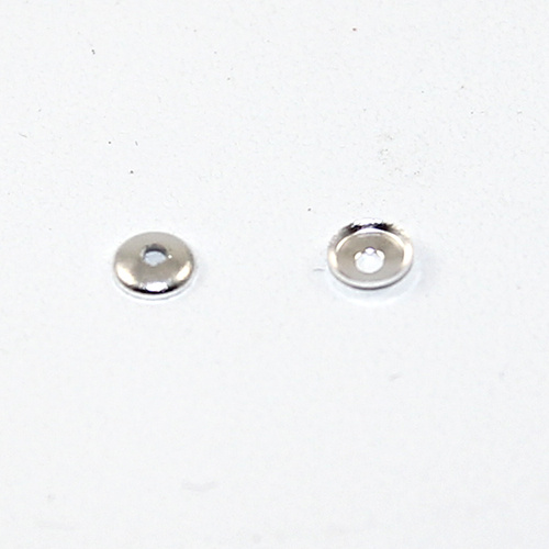 4mm Domed Bead Cap - Silver
