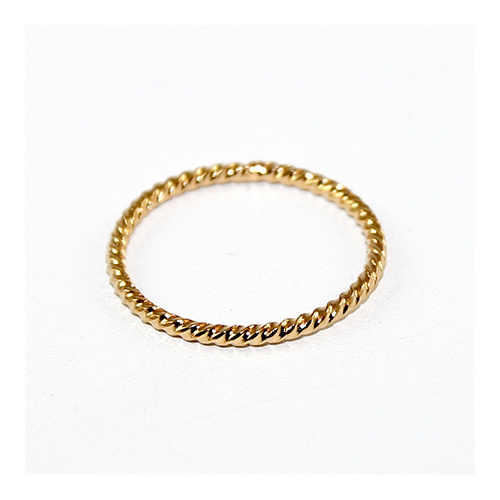 20mm Wriggle Closed Ring - Brass - Gold