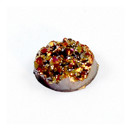 "12mm ""Druzy"" Resin Cabochon - Gold & Pink"