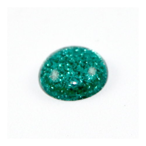 12mm Glitter Cabachon - Dark Green