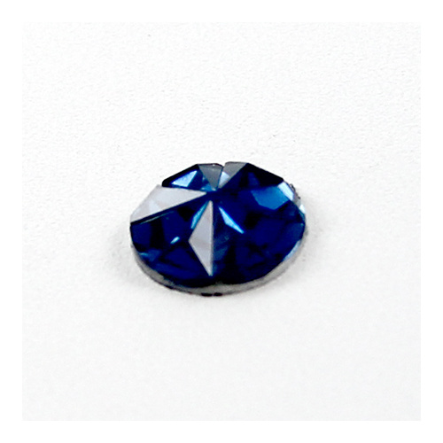 12mm Royal Blue Faceted Resin Cabochon