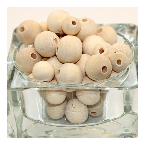 Round Wooden Bead Mix - Natural