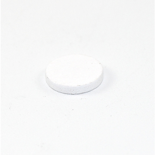 16mm Flat Wood Cabochon - White
