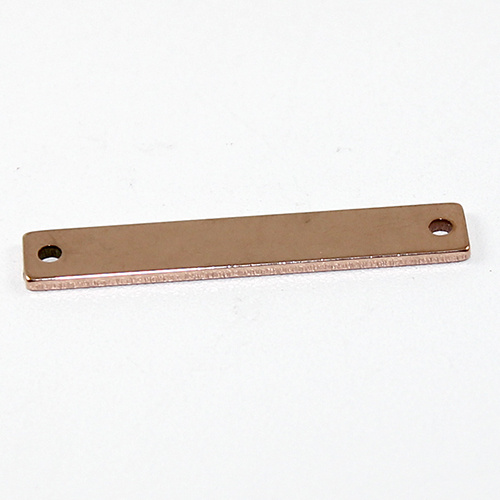 Blank Stamping Rectangular Connector - Rose Gold