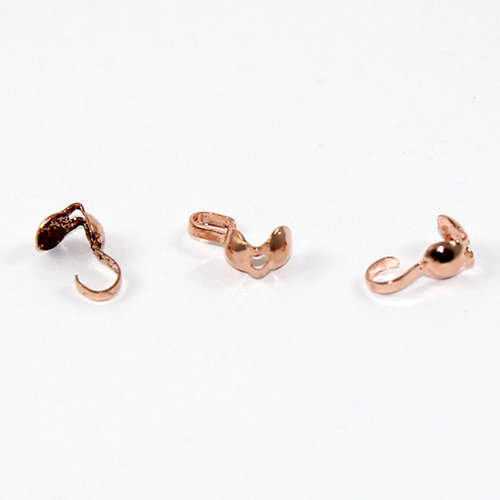 4mm Calotte Cover with Folding Loop - Rose Gold