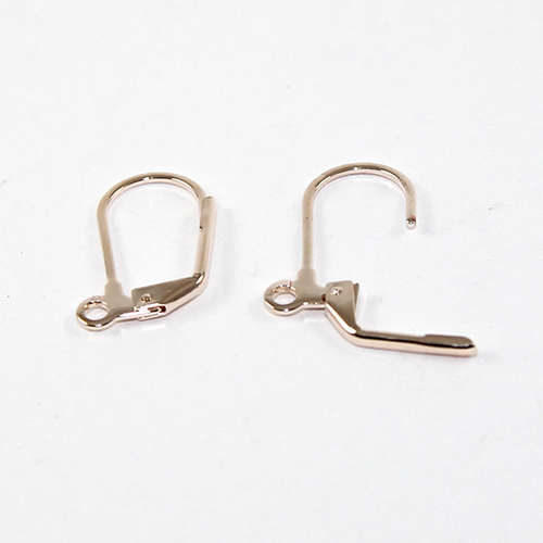 Continental Hook - Plain - Pair - Rose Gold