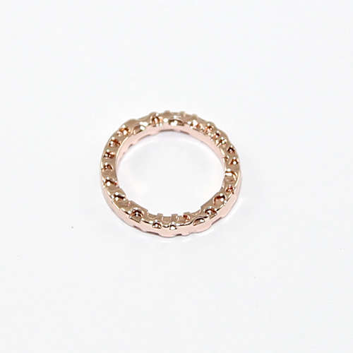 11mm Hammered Circle Ring - Rose Gold
