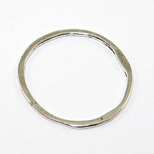 32mm Twisted Circle Ring  - Antique Silver