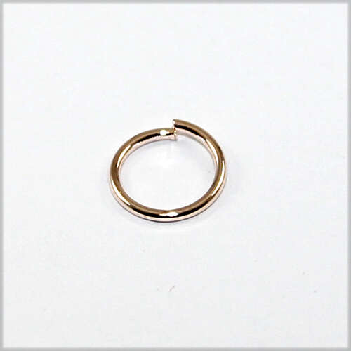 8mm Brass Jump Ring - Rose Gold