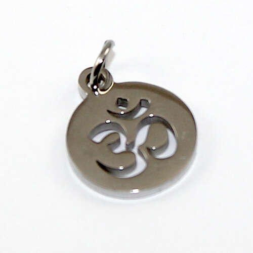 12mm Om Charm - Stainless Steel