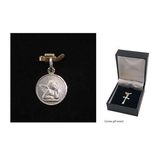 Holy Medal - Cherub - 10mm - Sterling Silver