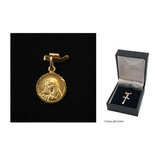 Holy Medal - Our Lady of Sorrow - 10mm - 9kt Gold