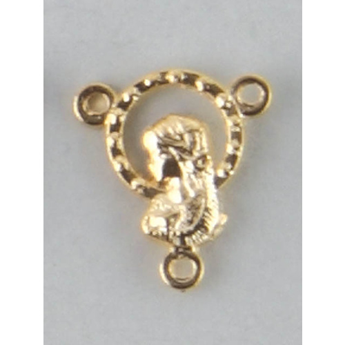 Rosary Centre - 13mm Rosary Medal Centre - Gold Plate