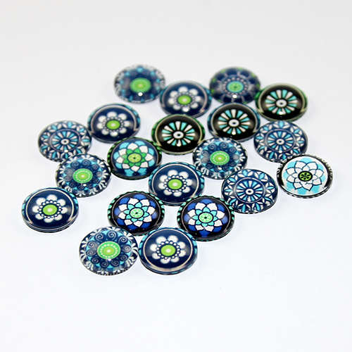 12mm Stained Glass Cabochon - Mixed Colours