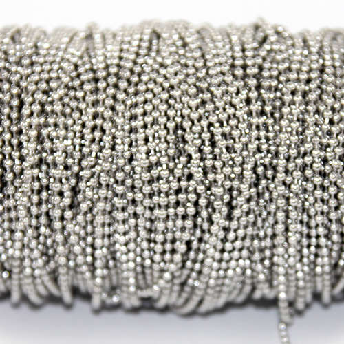 2mm Stainless Steel Ball Chain - Sold in 10cm increments