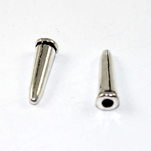 17mm Half Drilled Cone Bead - Antique Silver