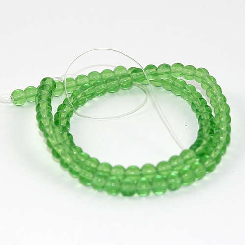 4mm Glass Bead 33cm Strand - Green