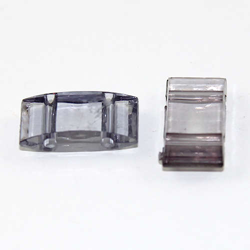 Two Hole Transparent Carrier Bead 17mm x 9mm - Grey