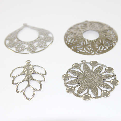 Mixed Filigree Pieces - Medium - Platinum