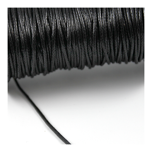 1.5mm Black Waxed Cotton